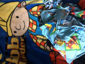 Bob the builder fleece blanket and sheet set