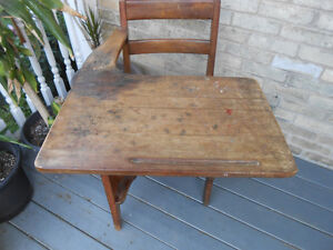 Solid Wood Antique Child's Desk Stratford Kitchener Area image 2