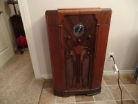 Beautiful Antique 1938 ROGERS MAJESTIC Floor Model RADIO ~ $625