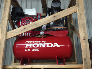 AUBAINE! NEUF! COMPRESSEUR À ESSENCE HONDA 13 HP AIR COMPRESSOR