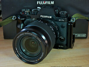 Fujifilm X-T1 Body with Arca-Swiss Style L-Plate Grip - Mint!