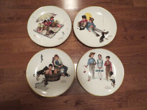 Norman Rockwell Collector's Plates - 1975 Four Seasons