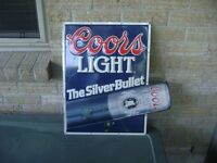 2 different beer signs