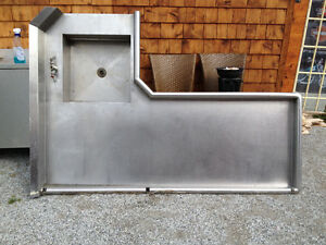 Stainless steel prep tables  $250 Each