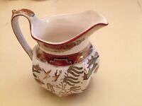 Wedgwood Polychrome Gaudy Willow Pattern Pitcher Creamer