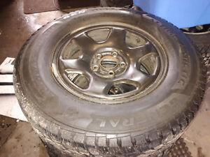 235/70R16 snow tires on 5 bolt rims