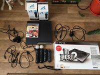 Ps3 1 controler ( no box) + 2 games and move controlers