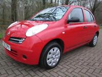 06/06 NISSAN MICRA 1.2 S 5DR HATCH IN RED WITH SERVICE HISTORY
