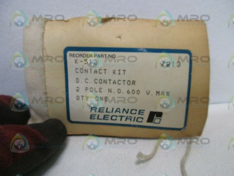 RELIANCE ELECTRIC K-513 CONTACTOR KIT * NEW IN BAG *