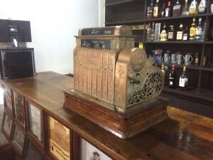 Antique cash register still works
