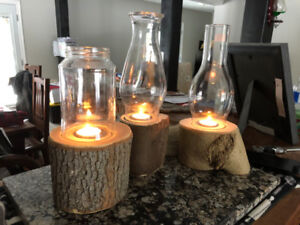Rustic tea lights