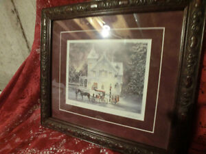 "Framed ""Christmas Magic"" by Walter Campbell NOW $30.00"