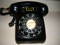 Vintage, Western Electric Bell black rotary dial telephone
