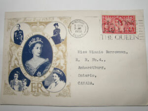 FIRST DAY COVER QUEEN ELIZABETH II CORONATION JUNE 2/53 - SCARCE
