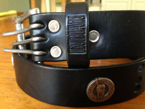 Indian Motorcycle Leather Belt with silver conchos
