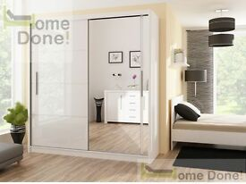 **7-DAY MONEY BACK GUARANTEE**- Victor Massive Sliding Door Wardrobe - BRAND NEW! RRP£399!!