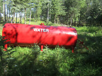 Water tank for fire fighting