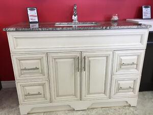Solid Wood vanities- Quartz counter top included
