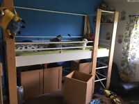 Low mid high sleeper bed