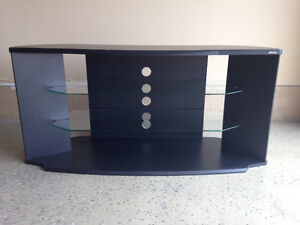 T.V. Unit/Entertainment Stand with glass shelves