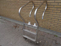 Pool Ladder, above ground, 3-step, all stainless steel