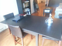 SOLID BLACK HIGH QUALITY WOOD TABLE