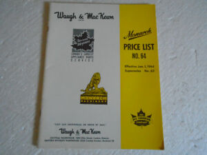1964 Plumbers Catalog Monarch Machinery  Fire Irrigation Pump