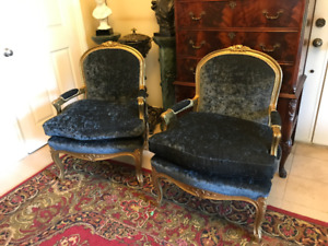 Pair of  French Bergere Chairs, $1300 for the pair.