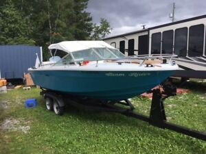 Early 90's 19 1/2 foot sea ray srv boat with trailer and motor