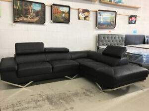 Clearance-Brand new Genuine leather sectional Couch/sofa$1299up