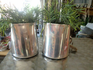 Home decor - artificial plants and metal vases