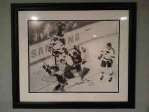 "Bobby Orr signed and framed print ""The Goal"" price lowered Prince George British Columbia image 1"