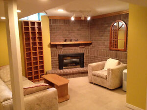 Clean, Bright Basement Apartment in Milton -- Available Now