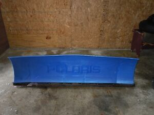 polaris clip and snow plow 66 in with brackets obo
