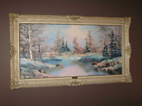Set of 2 paintings - frames not included