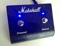 Marshall Footswitcth(Pédale) Channel and Chorus avec LED(Custom)