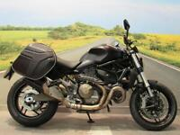 Ducati M821 Monster **Panniers, Ohlins Suspension, ABS**