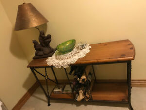 Bear lamp and table