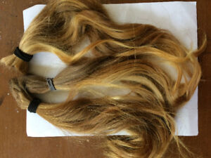Real human hair - strawberry blonde