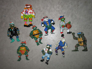 Teenage Mutant Ninja Turtles TMNT Lot of 9 Vintage Figures