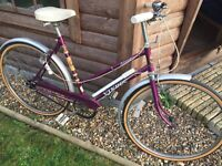 Classic Retro ladies push bike