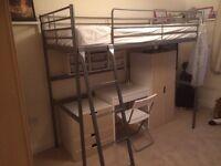 Bunk bed ikea plus desk top