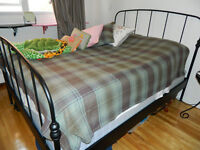 Queen Bed Frame with Mattress and Box Set