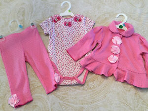 6 to 9 month Nicole Miller 3 piece outfit Kitchener / Waterloo Kitchener Area image 1