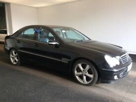 2005 55 Reg Mercedes-Benz C-Class 1.8K C180 Kompressor Avantgarde, 5 Door, Petrol, Automatic, Black