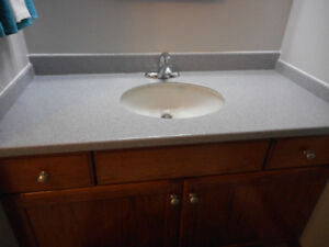 Corian vanity top, tap and sink $150