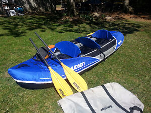 Sevylor 3 person Inflatable canoe, paddles and pump