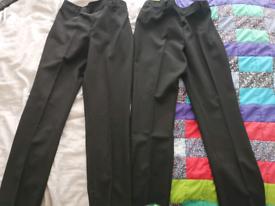 Girls black TU school trousers Unused Age 10