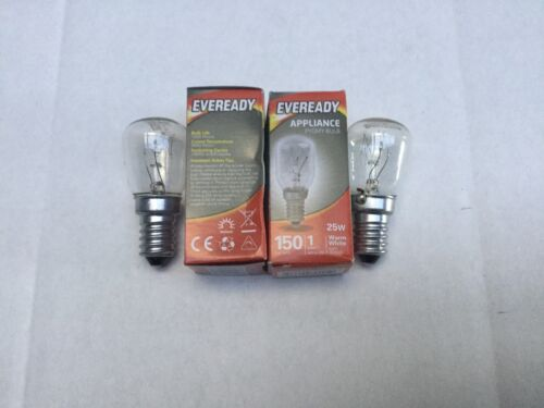 2 x fridge refrigerator lamp light bulb