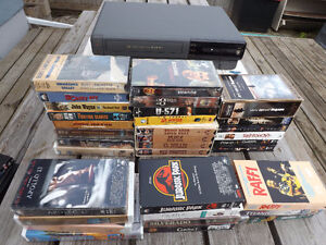 VHS Player/Recorder and 40+ VHS Tapes